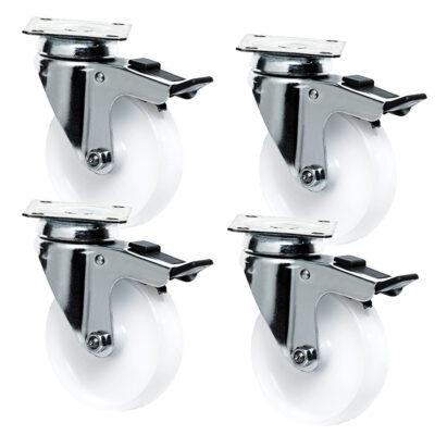 Set 4 roti pentru suporturi cuptoare