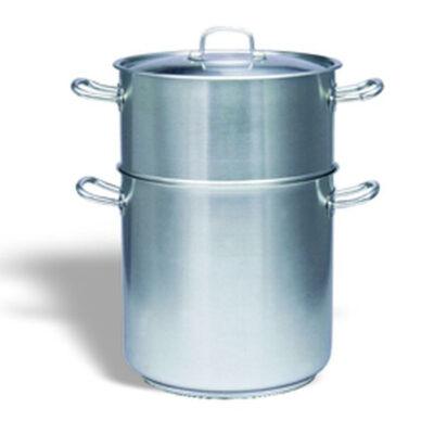 Set oale drepte cu capac pentru fierbere cuscus, 10.2 litri