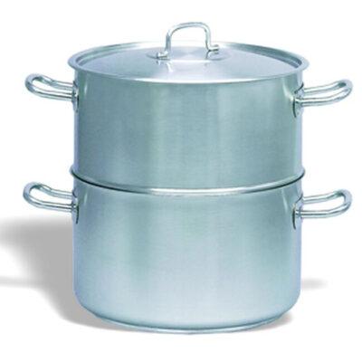 Set oale cu capac pentru fierbere cu aburi, 12.6 litri