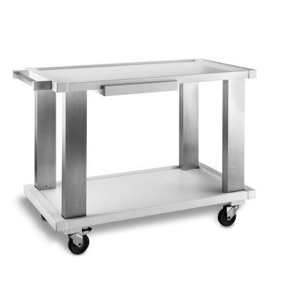 Carucior alb pentru servire, 1050x550mm