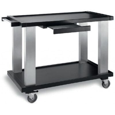 Carucior negru pentru servire, 1050x550mm