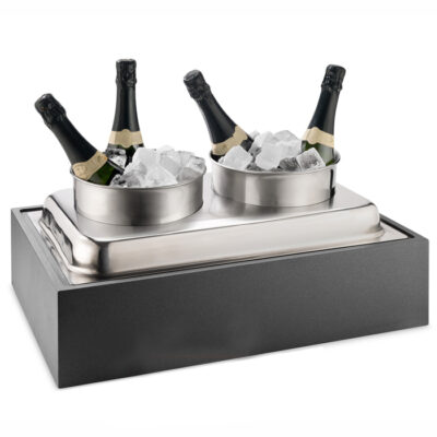 Unitate expunere vinuri la rece cu 2 frapiere, culoare neagra