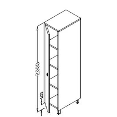 Dulap vertical cu o usa, 500x600mm