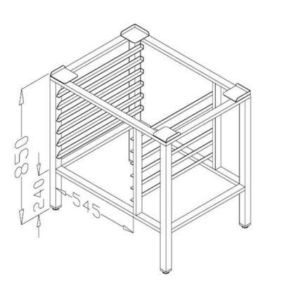Suport cuptor 80x55cm, 6 tavi GN1/1