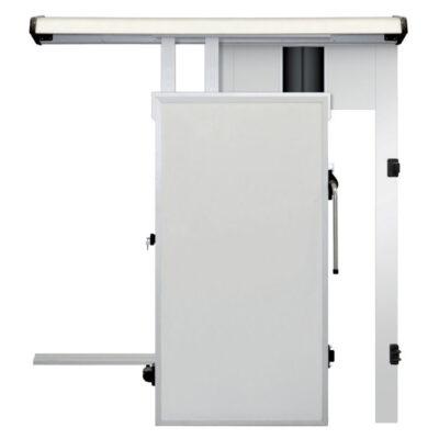 Usa glisanta pentru camera frigorifica, cu dispozitiv de trecere 800x2000mm