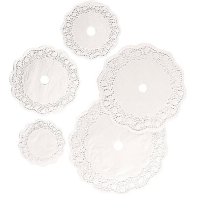 Set hartie dantelata rotunda, 3 dimensiuni