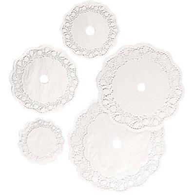 Set hartie dantelata rotunda, 4 dimensiuni