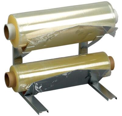 Dispenser dublu pentru folie alimentara cu perforatii