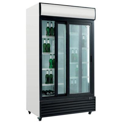 Vitrina frigorifica cu usi culisante din sticla, 1000 litri