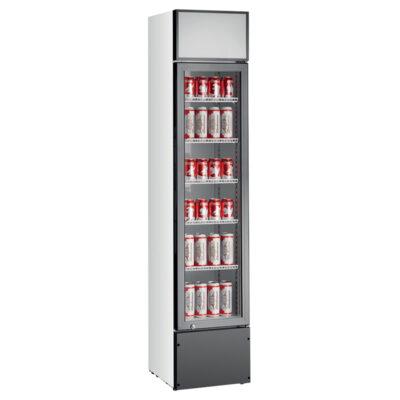 Vitrina frigorifica verticala cu iluminare frontala, 160 litri