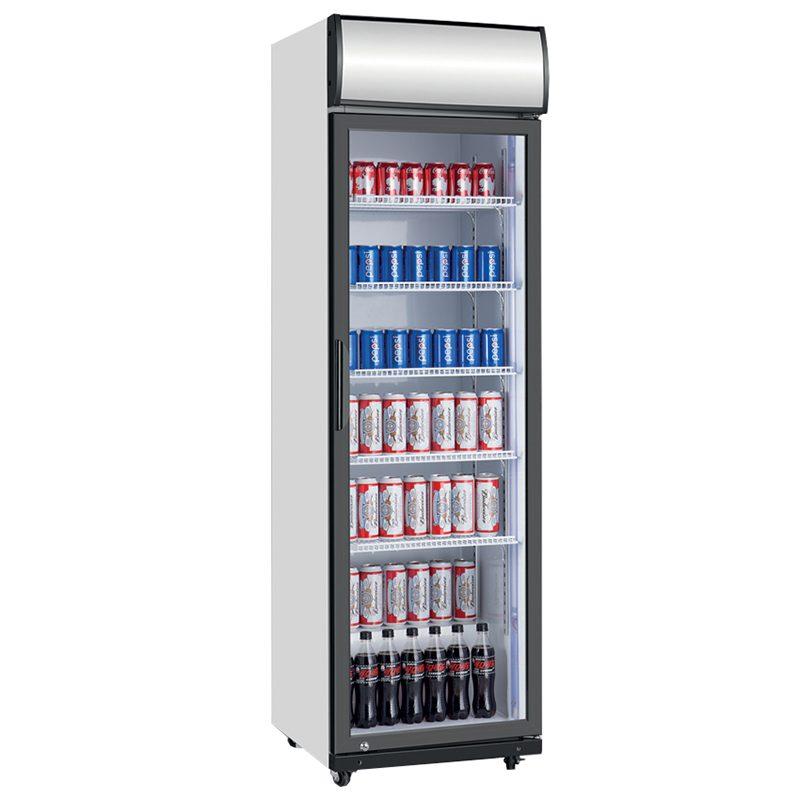 Vitrina frigorifica verticala cu iluminare frontala, 360 litri