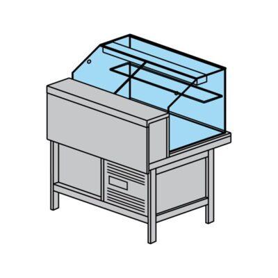 Vitrina frigorifica pentru cofetarie/patiserie PARTY 2120mm