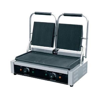 Toaster dublu cu mecanism prin apasare pe placi striate