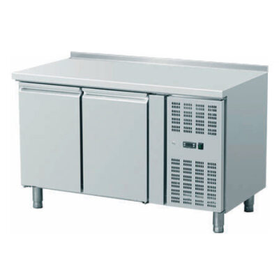 Masa frigorifica cu 2 usi si rebord, 1360x700mm