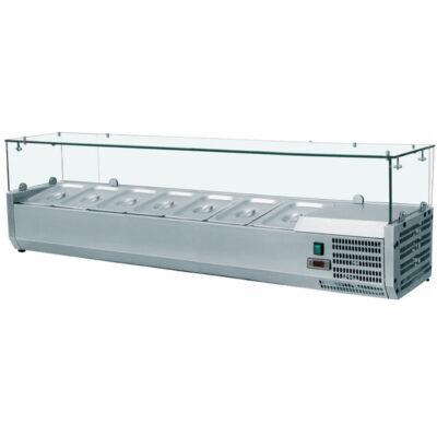 Vitrina frigorifica de banc 1400x335mm, 6 cuve GN1/4