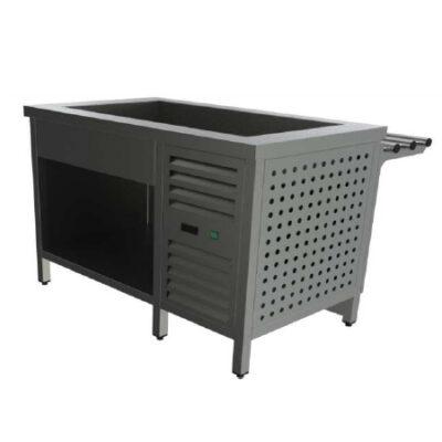 Cuva frigorifica prevazuta cu suport deschis si ghidaje pentru tavi