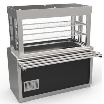 Vitrina frigorifica prevazuta cu dulap neutru si cuva frigorifica, 1490mm