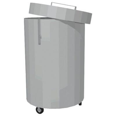 Cos de gunoi din inox cu capac, 70 litri