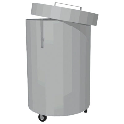 Cos de gunoi din inox cu capac, 115 litri