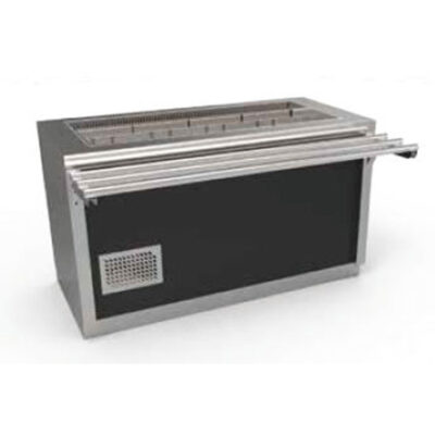 Cuva frigorifica prevazuta cu suport deschis si ghidaje pentru tavi, 4 cuve GN1/1