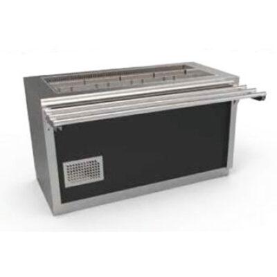 Cuva frigorifica prevazuta cu dulap neutru, usi batante si ghidaje pentru tavi, 4 cuve GN1/1