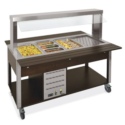 Bufet bain marie mobil, 2260mm