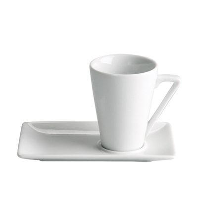 Ceasca pentru cafea cu farfurie Ming Blanco, 60ml