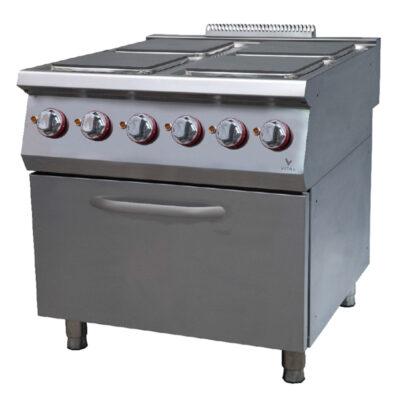 Masina de gatit electrica cu 4 plite patrate si cuptor, 800x920mm
