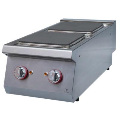 Masina de gatit electrica cu 2 plite patrate, 400x920mm