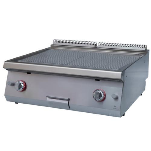 Fry top electric cu suprafata striata, 800x730x280mm