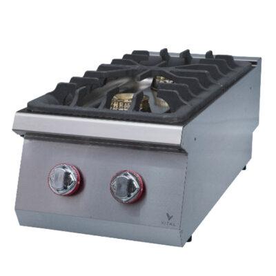 Masina de gatit pe gaz cu 2 arzatoare, 400x920x280mm