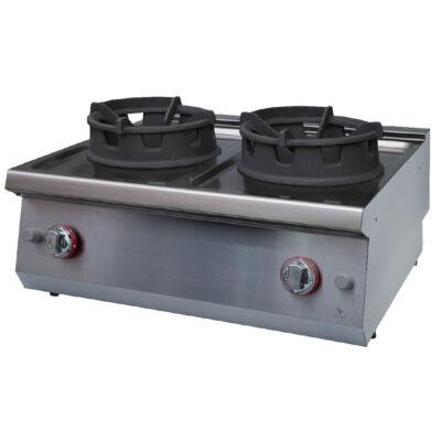 Masina de gatit pe gaz cu 2 arzatoare tip WOK, 800x920mm
