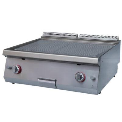Fry top pe gaz cu suprafata striata, 800x730x280mm